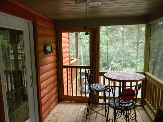 Cedar Rock Cabins: Screened in side porch at Skipper's Dream