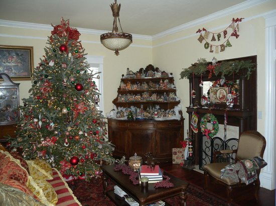 The Social Goat Bed & Breakfast: Sitting room holiday decorations
