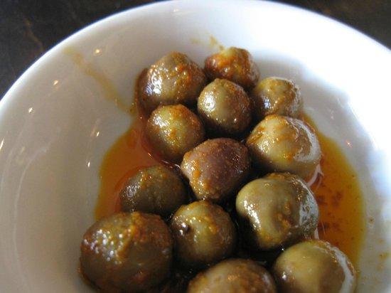 Barceloneta:                   Olives as apps