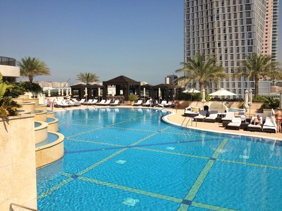 Grosvenor House Dubai:                   The spa pool mid morning when there was sunshine