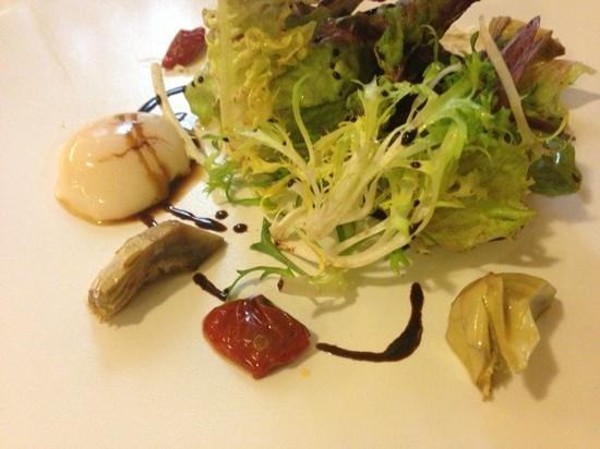 Mercer Hotel Barcelona :                   ensalada de alcachofas