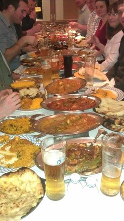 Rafus Curry Corner:                                     A lot of food!