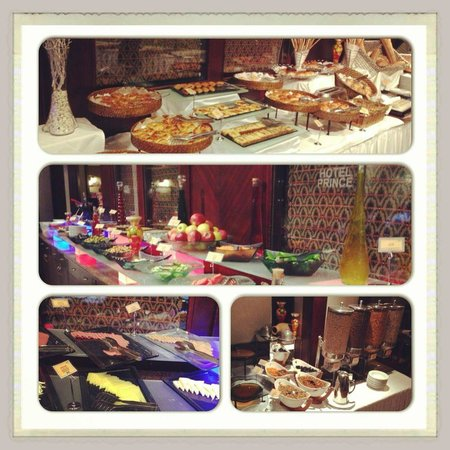 Hotel Prince: Open Buffet Breakfast