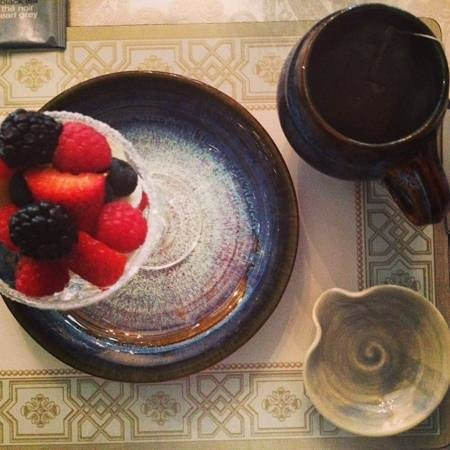 Seven South Street Inn:                                     Fresh Fruit and Earl Grey Tea