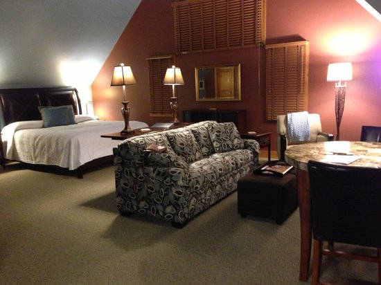 Iris Inn :                   The Hawk's Nest Suite. Clean, spacious, and well-appointed!