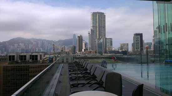 Hotel ICON:                   Great view from the pool deck and gym