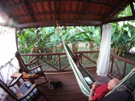 La Quinta de Sarapiqui Country Inn :                   The Patio and Hammock