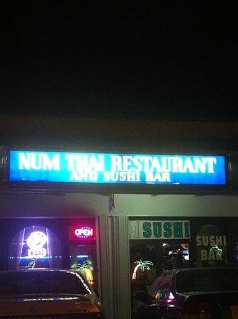 Num Thai Restaurant and Sushi Bar :                   Num Thai