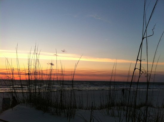 St. Joseph Peninsula State Park:                   Sunset through the dunes. 3/3/13