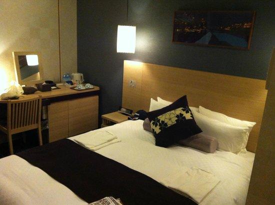 Hotel Vista Premio Kyoto:                   comfortable bed