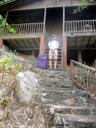 Bamboo Hill Chalets:                   Steep steps up to Chalets 5 & 6