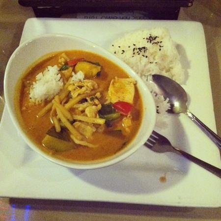The Asianh Bistro:                   pumpkin curry