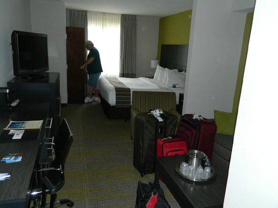 Comfort Suites Miami Airport North:                   Clean; well-appointed room for weary travelers.