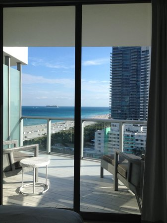 W South Beach :                   view from balcony