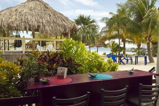 Melt Cafe:                   The beachside tables