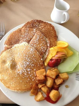 The Inn at Christie's Mill:                   huge and yummy pancake breakfast.
