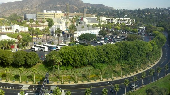 Hilton Los Angeles/Universal City:                   View of Universal Studios/City Walk from our room