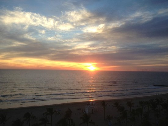 Hotel Riu Emerald Bay:                                     Beautiful sunset from our balcony.
