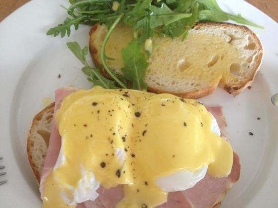 Harvest:                   eggs benedict