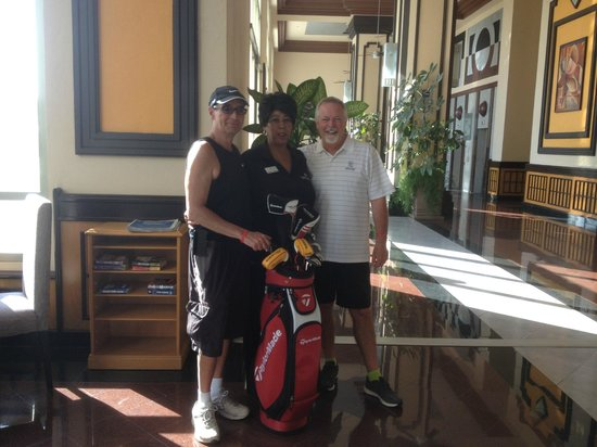 Hotel Riu Emerald Bay:                                     Arlene will book golf at Estrella Del Mar.
