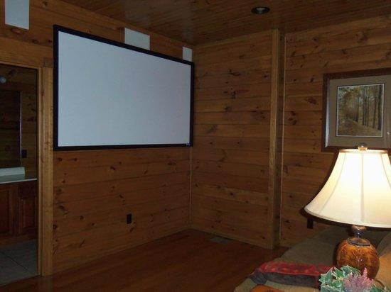 Gatlinburg Falls Resort:                   Home theater area