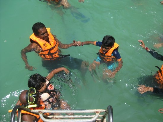 Andaman Camp and Day Cruise:                   Hassan is great with kids.