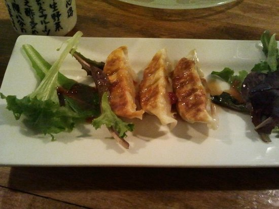 Konnyaku:                                     Pork Gyoza. I had to eat one as soon as it came!