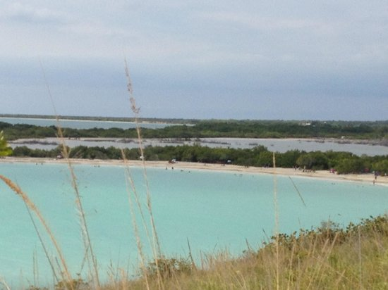 Playa Sucia :                                     View of the beach from the cliffs