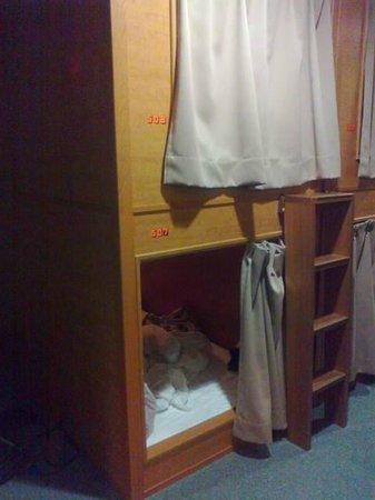 my bunk at ace inn shinjuku