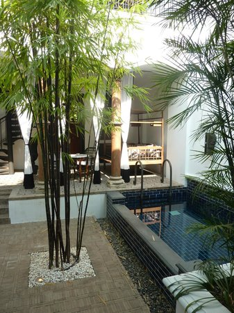 The Siam:                   private courtyard & plunge pool