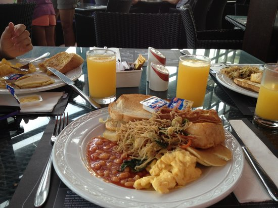 Hard Rock Hotel Bali:                   Free buffet breakfast! Amazing!
