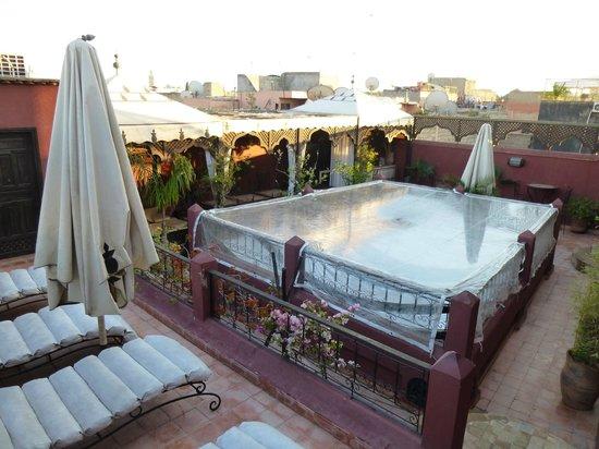 Riad d'Airain Marrakech: La deuxième terrase du Riad
