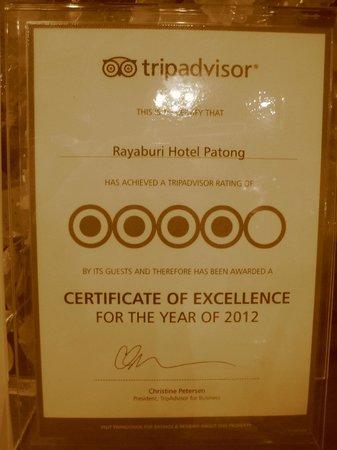 Rayaburi Hotel Patong:                                     Tripadvisor ratings