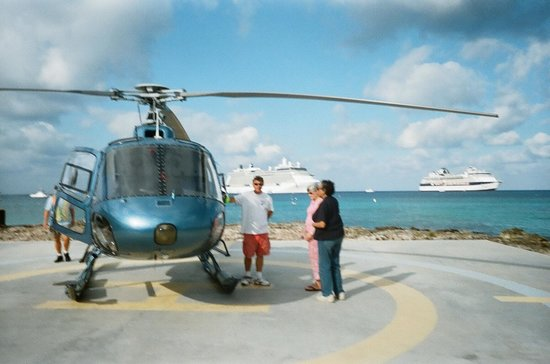 Cayman Islands Helicopters:                   Gerome and the helicopter!