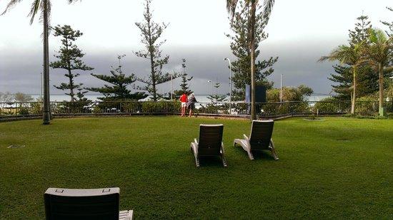 Beach House Seaside Resort:                   The grassed balcony