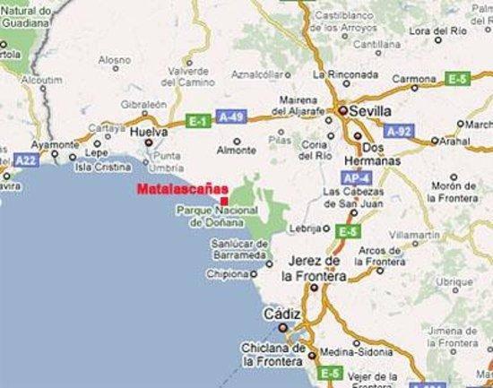 matalascanas espanha mapa Mapa   Foto de Hotel Donana Blues, Matalascañas   TripAdvisor matalascanas espanha mapa