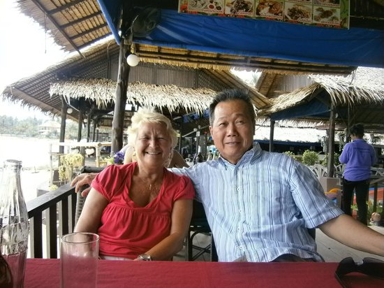 Lawana Resort:                   Brenda with Suwan the owner