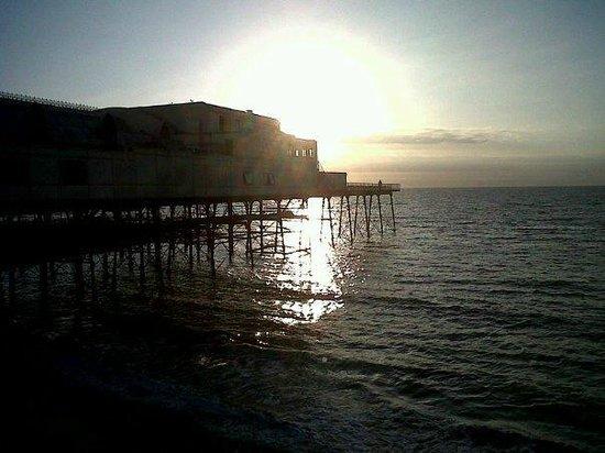 Pier Brasserie:                   The Pier at sunset