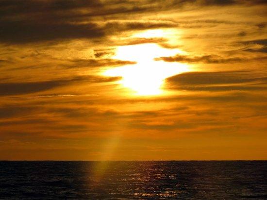 sunset at Muzhappilangad Drive-in Beach