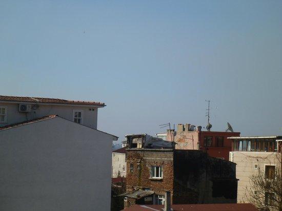 Basileus Hotel:                                                       Blick vom Balkon