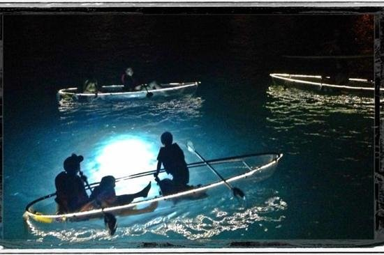 Clear Discoveries Tour :                                     night kayaking at the Marriott!