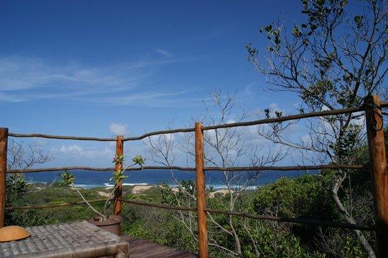 Dunes de Dovela eco-lodge:                   vista dalla piazzola