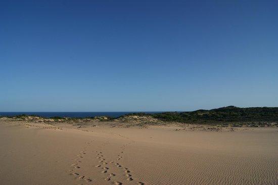 Dunes de Dovela eco-lodge:                   le dune e il mare