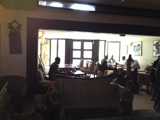 Bogobiri House Lagos:                   Dining area that leads to a patio