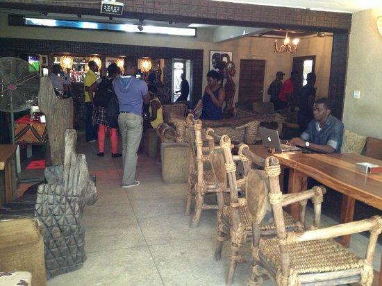 Bogobiri House Lagos:                   View toward the bar