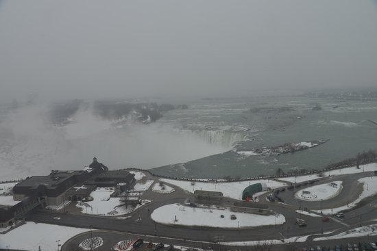 Niagara Falls Marriott Fallsview Hotel & Spa:                   18階からの眺め