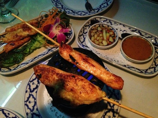 Thai Spice:                   Chicken Satay