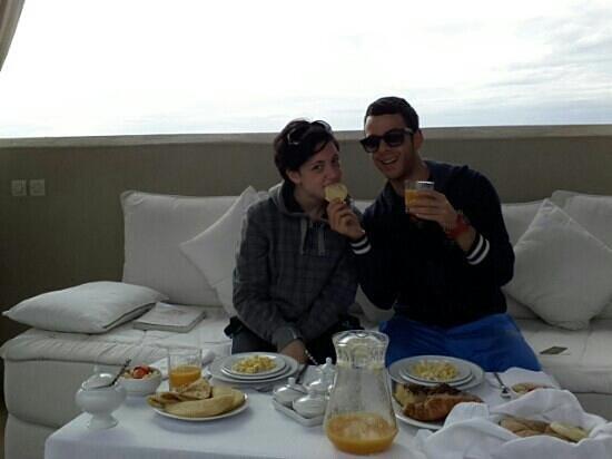 Riad Kheirredine:                   Super-Colazione servita in terrazza!