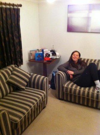 Fishmore Hall:                   living area