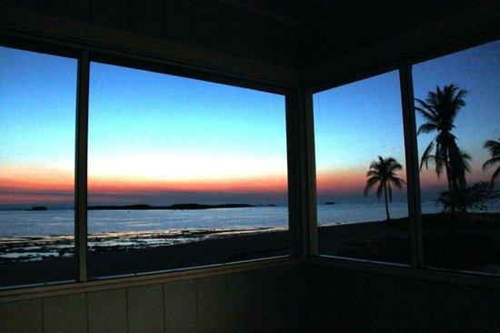 Paradise Cove Beach Resort :                   Sunset from veranda